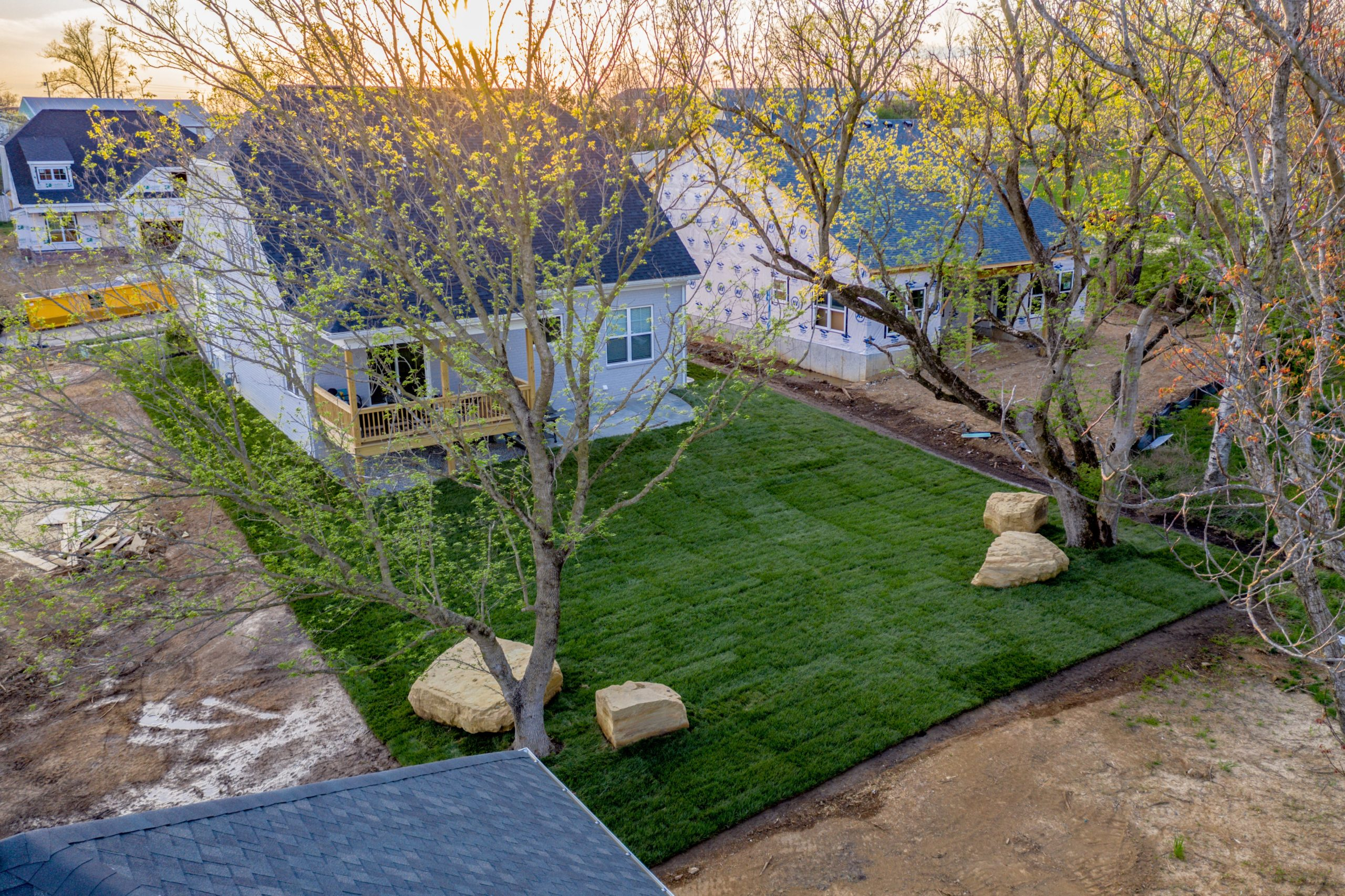 backyard design in landherr