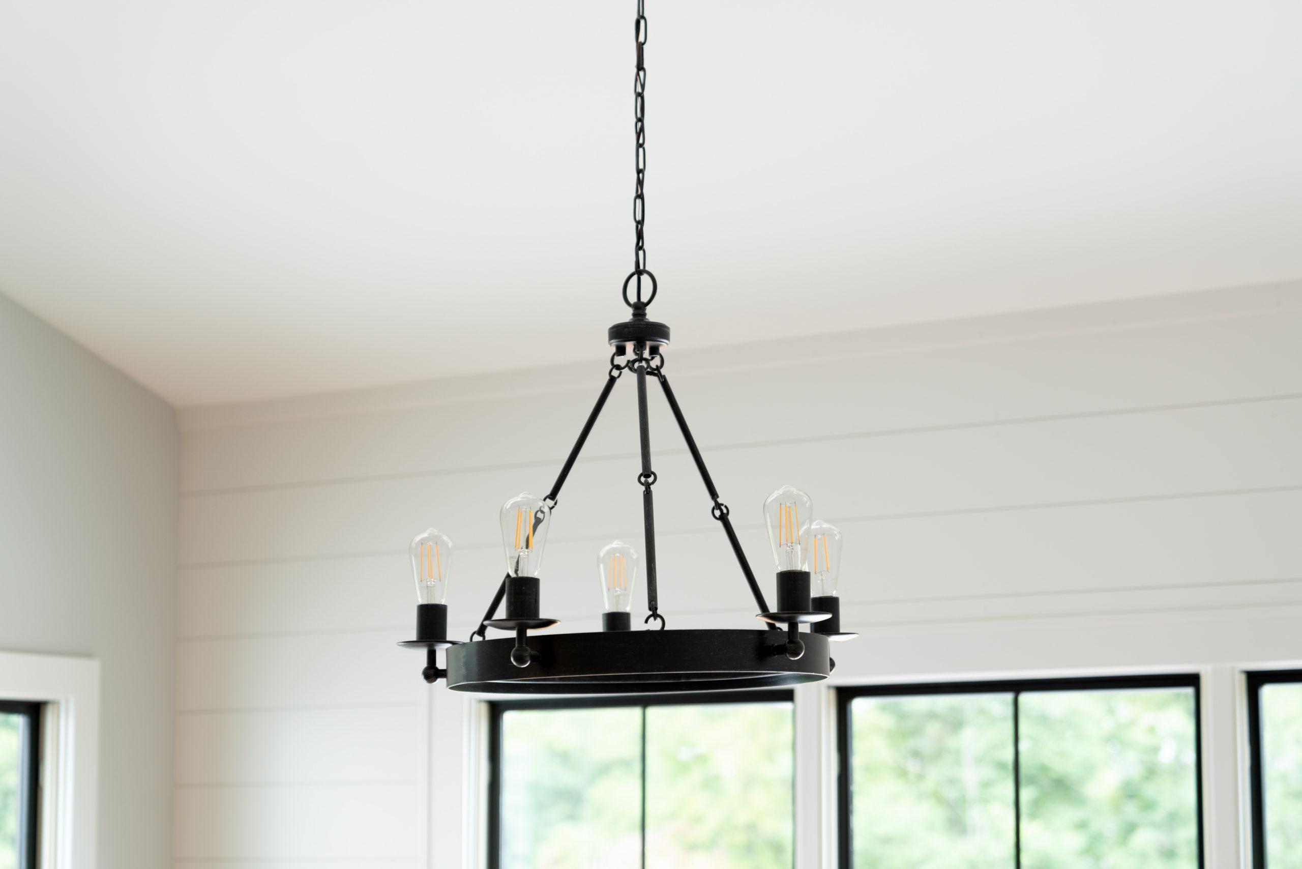 farmhouse black chandelier
