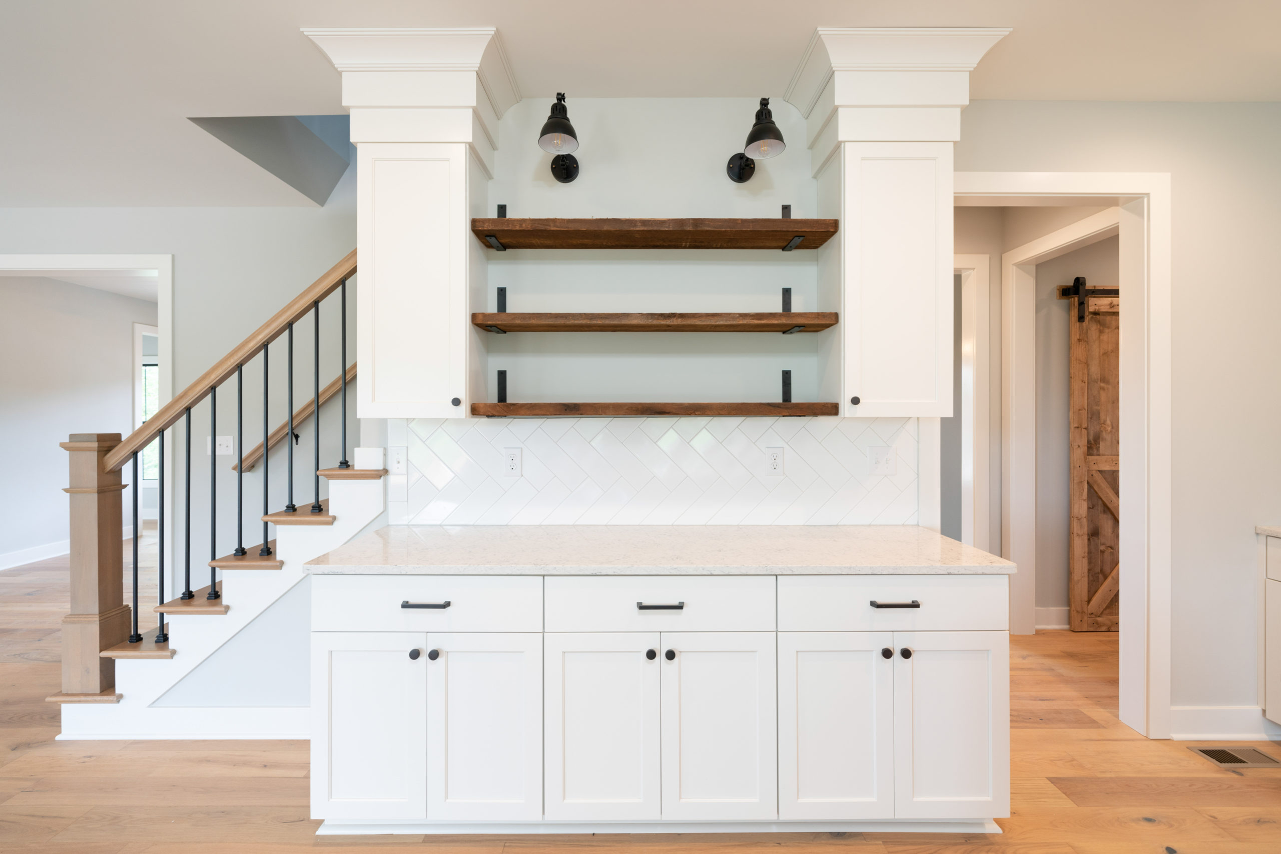 custom cabinetry in farmhouse style home