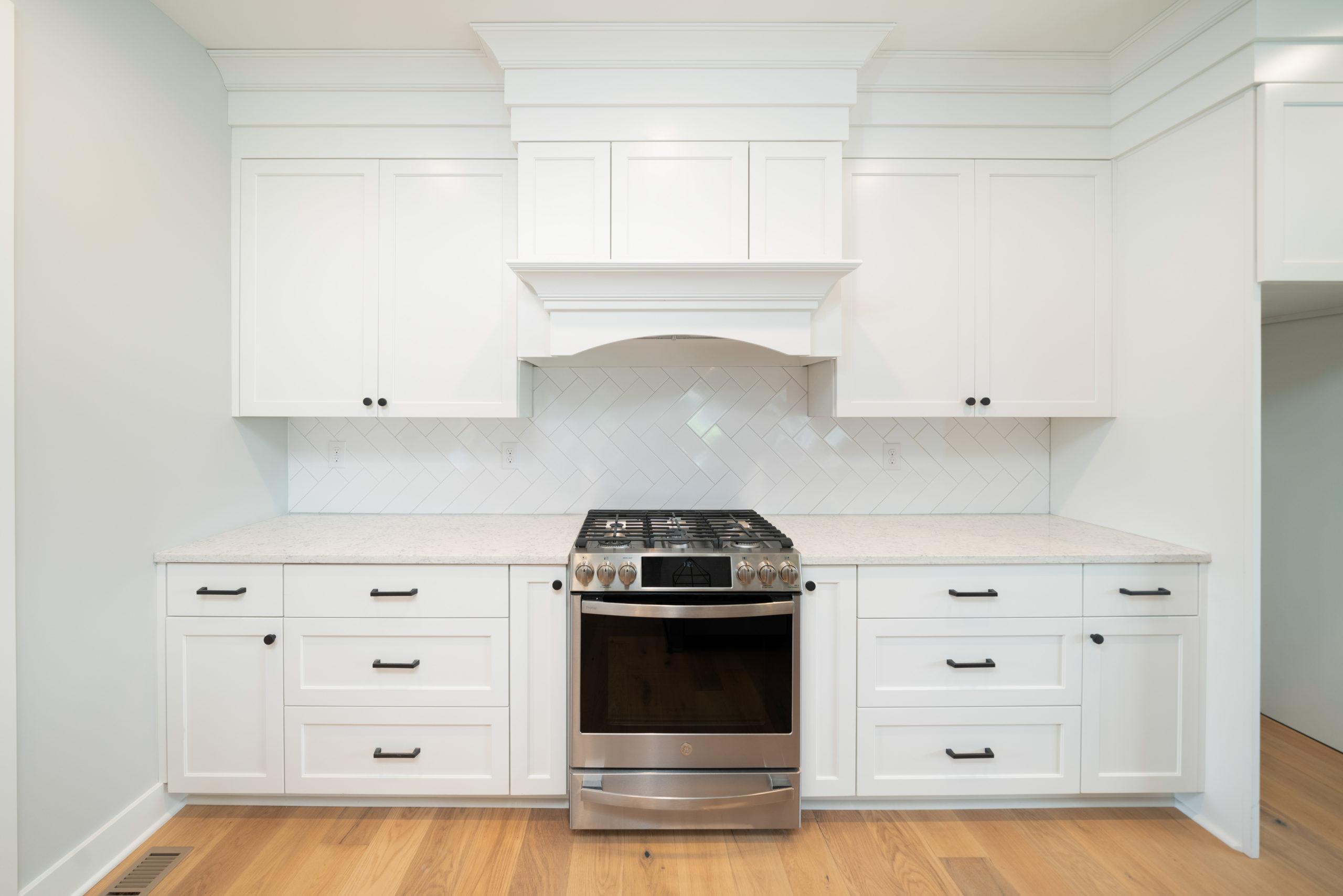 custom white kitchen design