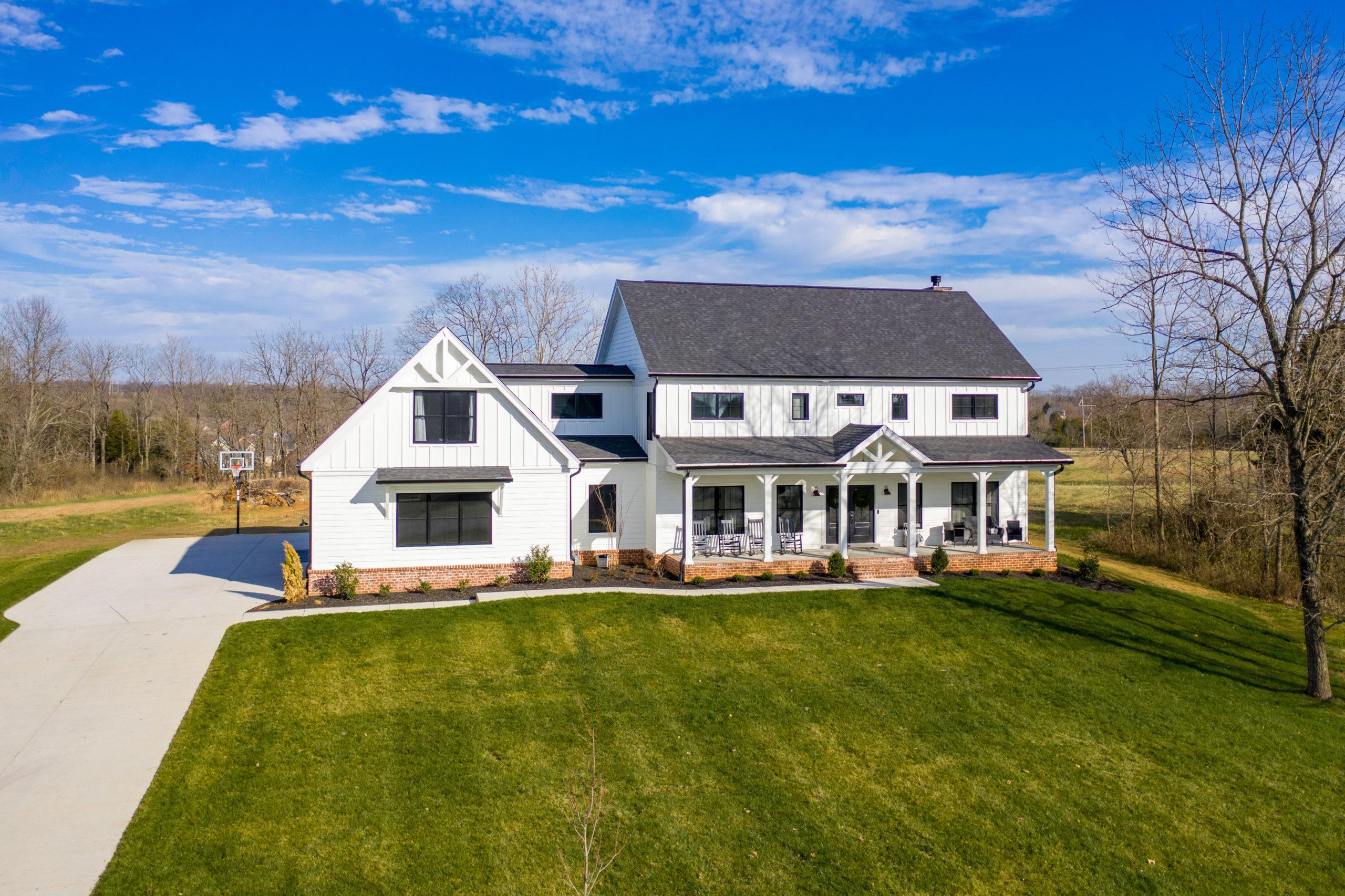 custom white farmhouse