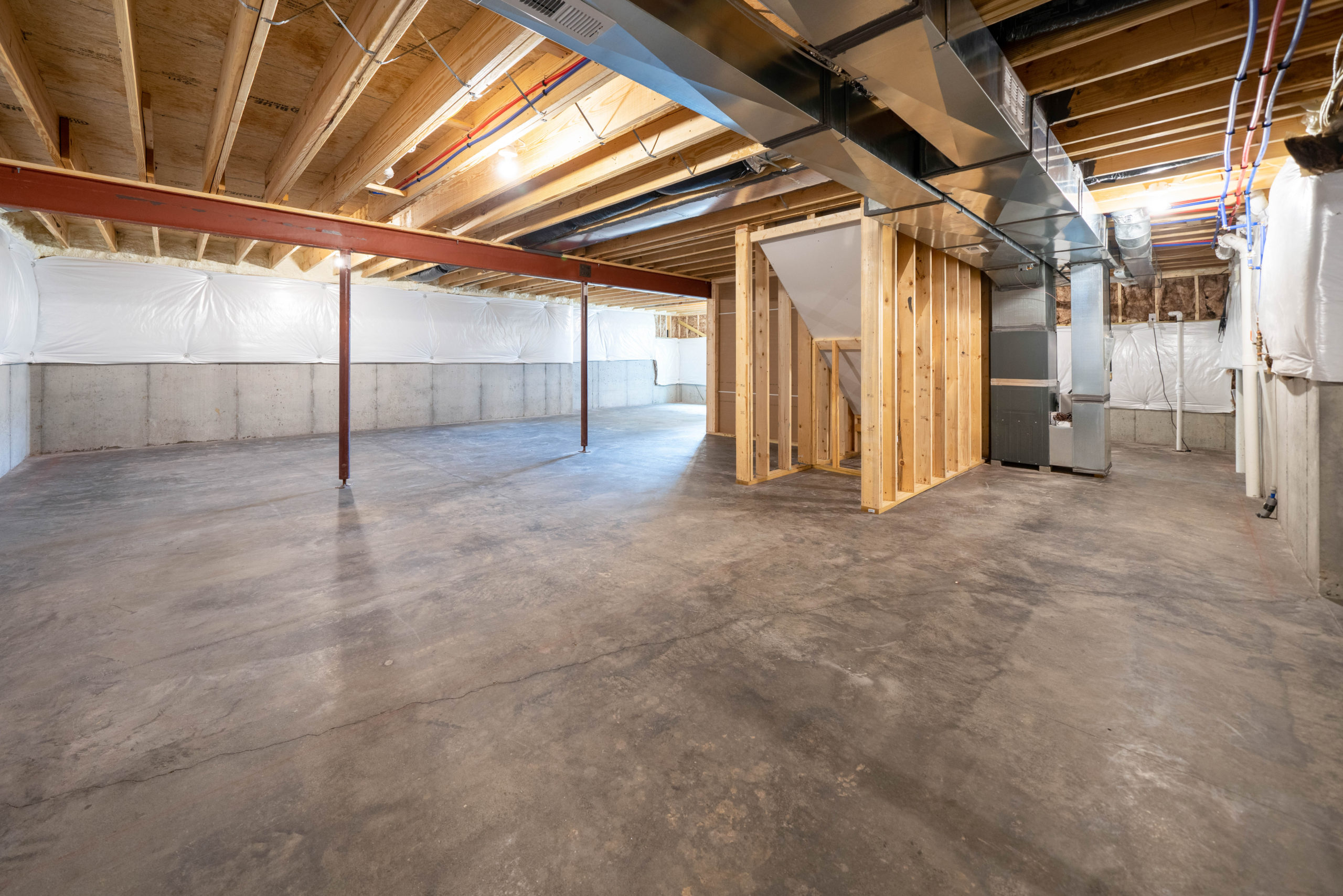 unfinished basement with concrete flooring